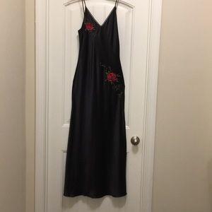 Victorias Secret Black Lingerie Slip Dress Sz S